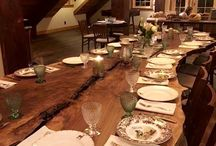Wood Tables / Live Edge Slab Custom-Made Wood Furniture Portland Oregon