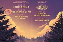 Movies Under The Pines / Outdoor movies put on by yours truly at the Nevada City Film Festival!