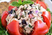 Salad toast tomat