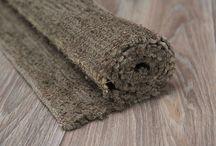 коврики из льна и джута