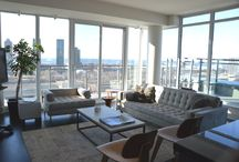 Minto 775 King West PH 1702 / Minto 775 King West is the 1,777 sq. ft. two bedroom, two storey penthouse suite 1702. PH 1702 features a den, library, 219 sq. ft. terrace with a west exposure and a balcony with a southern exposure.