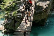 bike wood bridge