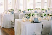 Wedding decoration blue