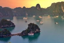 Sunset on Hạ Long Bay, #Vietnam #HeathrowGatwickCars.com