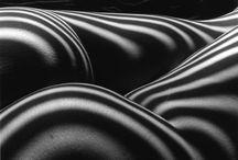 B&W lijnen / Projectie van lijnen op een lichaam