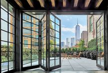 door window modern walls