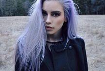 Pastel puprle hair