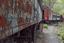 rusty train carrage