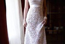 вязаные свадебные платья