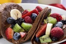 tacos y frutas