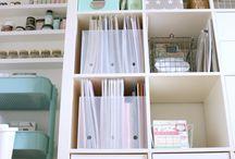Craft   Room / Der Kreativität Raum geben. Hoffentlich wird keine Kreativecke auch mal so ordentlich ;-)