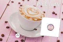Różowe latte :) / Kawa czy... biżuteria? ;)