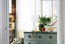 Gustavian style interiors / We love Scandanavian and Gustavian style interiors, especially distressed hand pained furniture and lime-washed floor boards. For more ideas on how to bring this style to your home, take a look at our blog: http://bit.ly/1ckmaVu