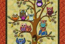 owl in tree quilt