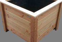 Plantenbakken / Hardhouten en douglas houten plantenbakken in elke afmeting