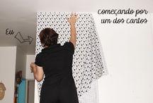 Como colar tecido na parede