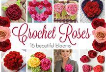 Crochet roses - hæklede roser