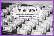 Invitations and your Guest List / Inspiring images of invitations and everything having to do with your guest list!