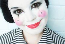 m  i  m  e  m  a  k  e  u  p / Mime, mime makeup, pandomim, pandomim makyajı