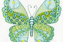 butterfly coloring - dragonfly