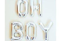 Baby shower boy theme