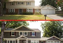 Before and After / Interior and exterior remodels