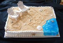 beach party cakes