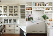 Kitchen Ideas / I need to remodel my kitchen.  I'm wondering about open front cabinets and a hanging pot rack... / by Shelia Steel