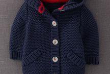Вязаные детские свитера