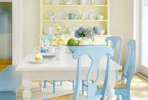 Blue and Yellow Decor