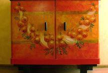 DEKORATIVE ART by Kama Karst / painted by Kamila Karst