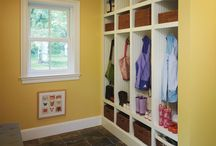Closets and bathrooms