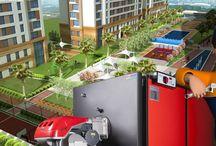 Merkezi Isıtma Sistemleri / Site Apartmanlar, Konutlar, Kamu Binaları, Oteller, Hastaneler gibi büyük binalarda, ısıtma ve sıcak temini için kullanılan kazanlardır.