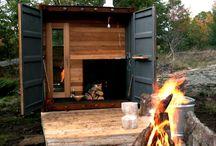 Sauna cabin outdoor