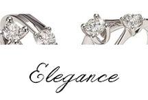 Elegance / #Bibigi | Collezione #Elegance | Gioielli in oro bianco e diamanti.
