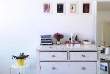 Studio Apartment Ideas / Studio Apartment Inspiration. Home decor. Design. Minimalist. White, wood, neutral tones.