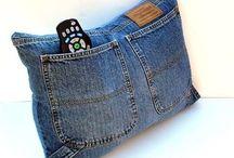 jeans kudde