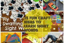 25 FUN CRAFT IDEAS TO LEARN SIGHT WORDS / 25 FUN CRAFT IDEAS TO LEARN SIGHT WORDS