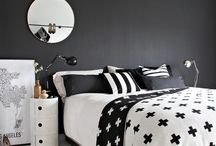 room decor black and white theme