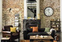 Style industriel salon