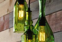 luminarias de garrafas recicladas