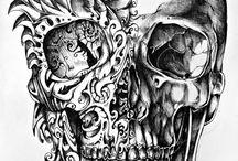Skulls / A fascination of mine - symbolizing death/rebirth