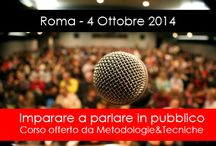 Corso di public speaking Roma / SABATO 4/10/2014 info: http://www.metodologietecniche.com/corso/corso-public-speaking-roma-2014/  ---------------------  Di seguito una raccolta di consigli utili per imparare a parlare in pubblico in modo efficace. Grazie ai corsi di public speaking offerti da Metodologie&tecniche Srl, le tecniche per imparare a parlare in pubbilco senza ansia e in modo persuasivo sono alla portata di tutti