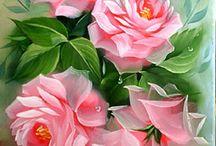 pintura  em flor