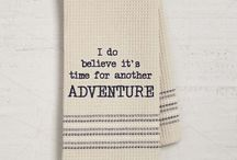 Mona B Cotton & Linen Dishtowels / Laugh your hands off with our dry wit towels.  They're so punny!