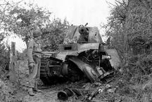 Destroyed armed vehicles