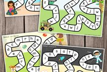 DIY Literacy Board Games