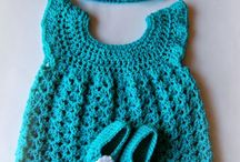 crocheted baby sets