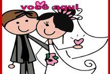 Placas para casamentos e festas