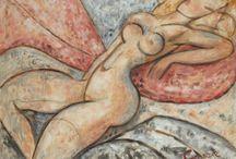 MARCEL GROMAIRE / Marcel Gromaire recherche un style nouveau, qui soit en harmonie avec son temps tout en se distinguant des styles en vogue à l'époque. L'utilisation de formes géométrisantes dans ses compositions lui vaut souvent d'être apparenté au mouvement cubiste.